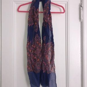 Accessories - Blue scarf with pink